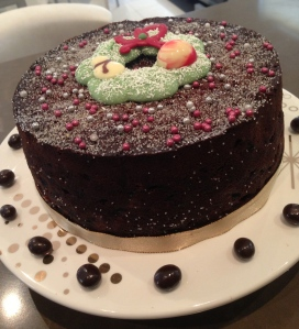 Christmas fruit Cake with Cocoa and Tia Maria