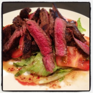 Beef Salad with chilli sauce