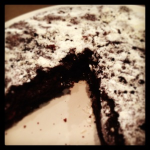 My oven broke so I made this dairy free chocolate cake on the stove top - success!