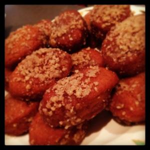 melomakarona - honey walnut biscuits...yum!
