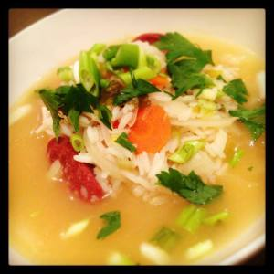 Chicken, Chorizo and Rice Soup - just the best!