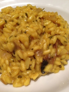 Thought I should eat something substantial so I made this kick ass saffron and porcini mushroom risotto!