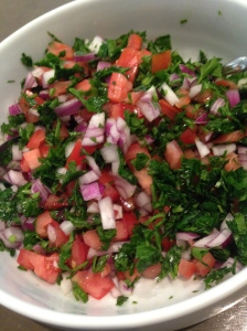Getting things ready for that quinoa tabbouli :)