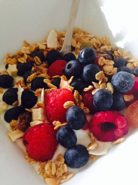 My favorite breakfast - fresh berries, yoghurt and muesli - new addiction - breakfast...